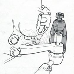 Съемник шаровых опор (размер зева 21мм) HCB A1083