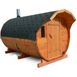 Баня-бочка из кедра с Козырьком длина 5 м