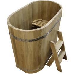 Купель из дуба Размер: высота 1000 мм, диаметр 1200*780 мм, толщина 40 мм