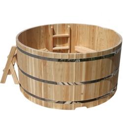 Купель из лиственницы Размер: высота 1200 мм, диаметр 2000 мм, толщина 40 мм