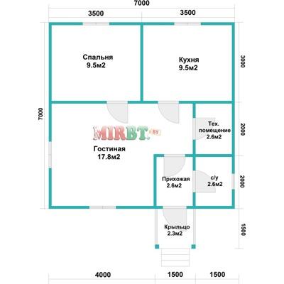Планировка одноэтажного дома 6 на 8 фото 175