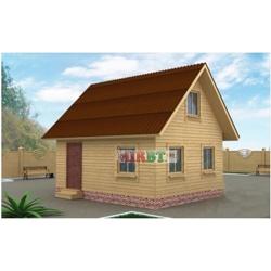 Дом 5x6 с двухскатной крышей и мансардой ЗД-007