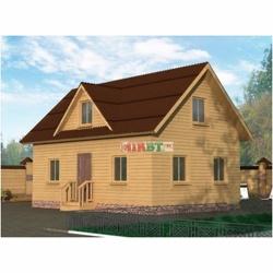 Дом 9x6 с двухскатной крышей и кукушкой ЗД-028